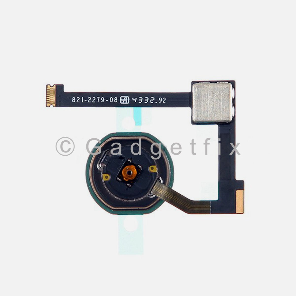 USA Black Home Menu Button With Flex Cable Replacement Part For iPad Air 2