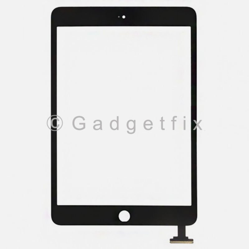 Black Ipad Mini Front Panel Touch Screen Glass Lens Digitizer Replacement Parts