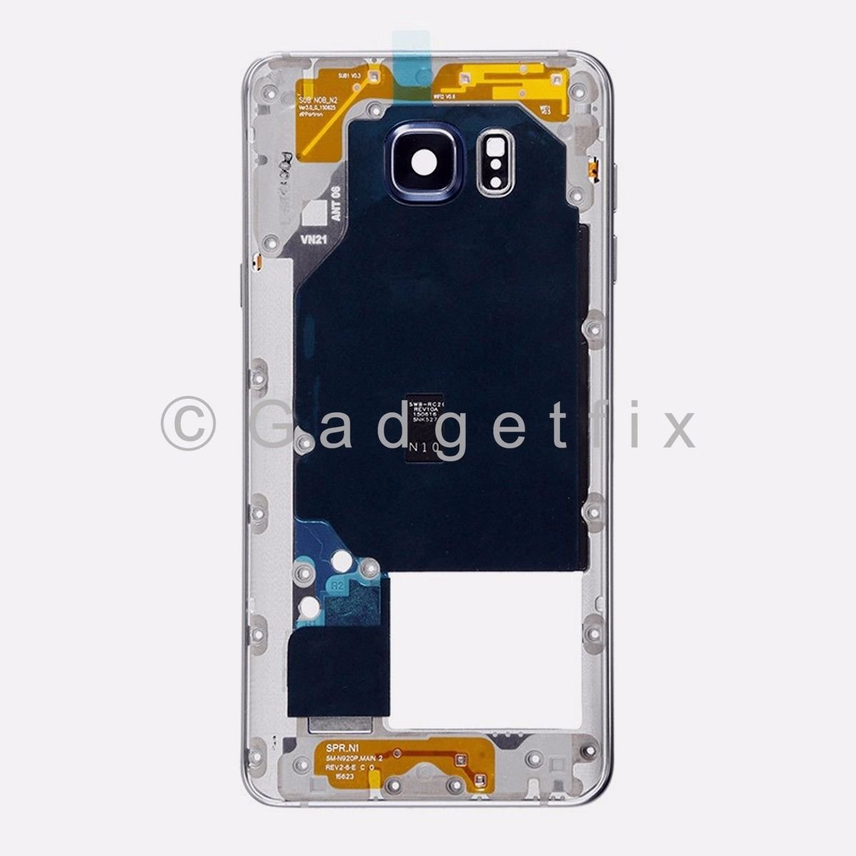 Black Samsung Galaxy Note 5 N920A N920T N920V N920P Middle Housing Frame Bezel Mid Chassis