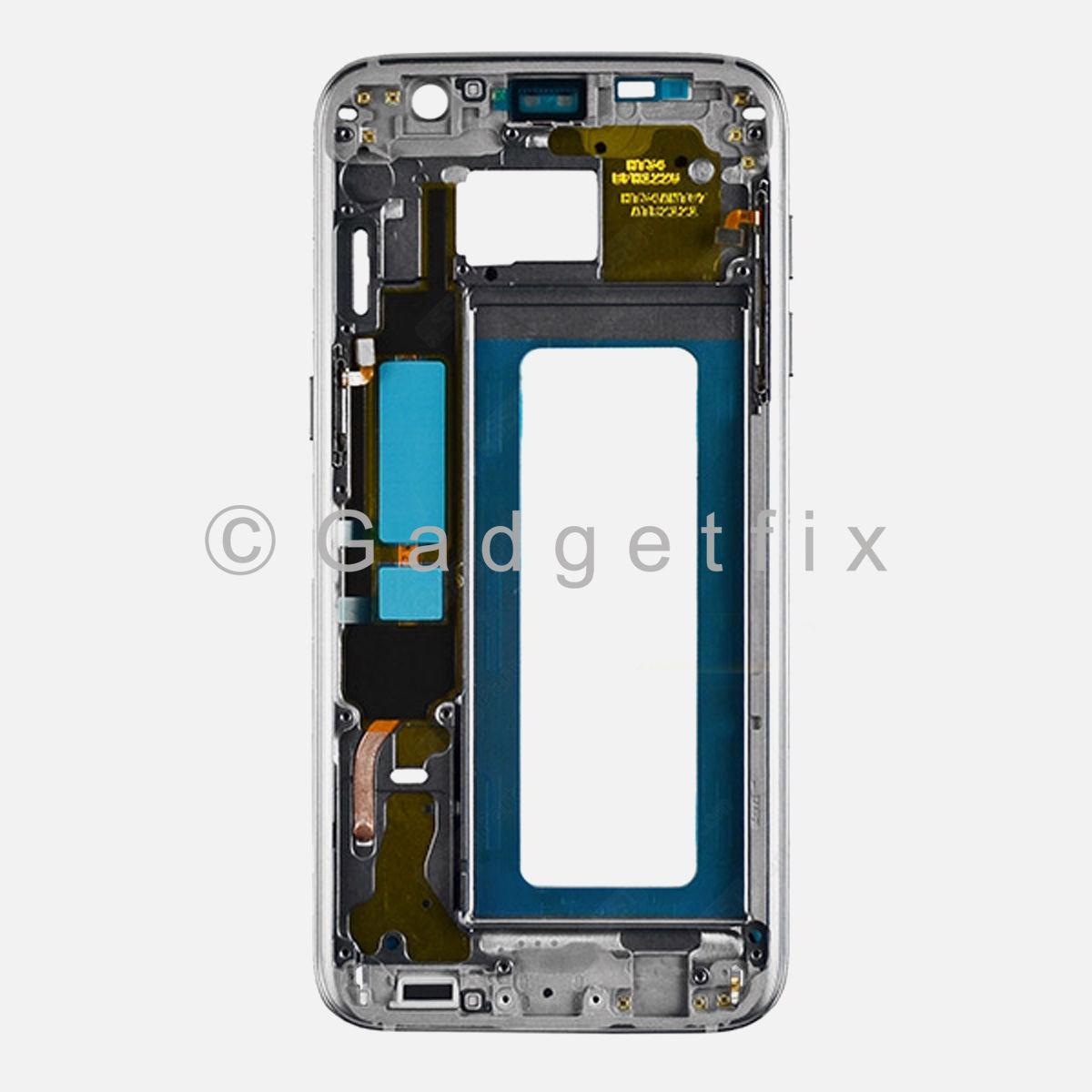 Black Samsung Galaxy S7 Edge G935A G935T Middle Housing Frame Bezel ...