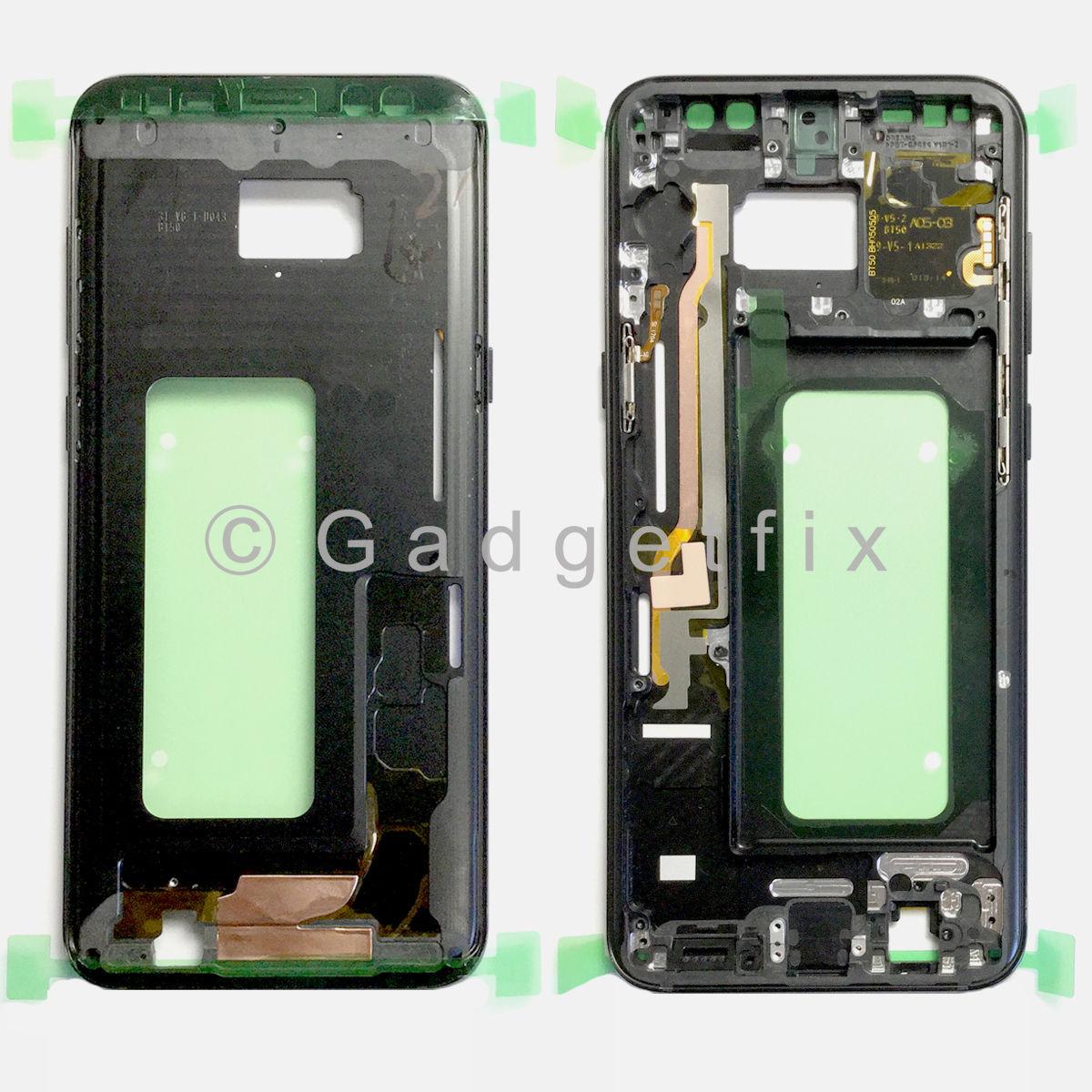 Black Samsung Galaxy S8 Plus G955A G955T G955P G955V Middle Housing Frame Bezel Mid Chassis