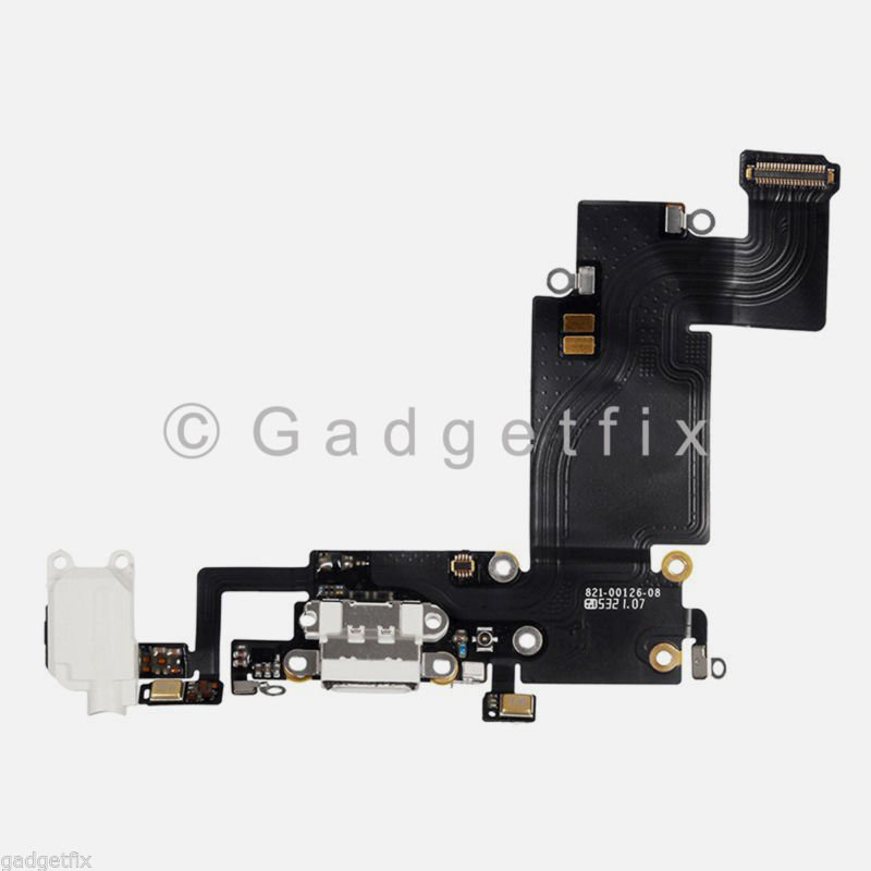 Charging Port Charger Dock Headphone Audio Flex Cable for iPhone 6S Plus White