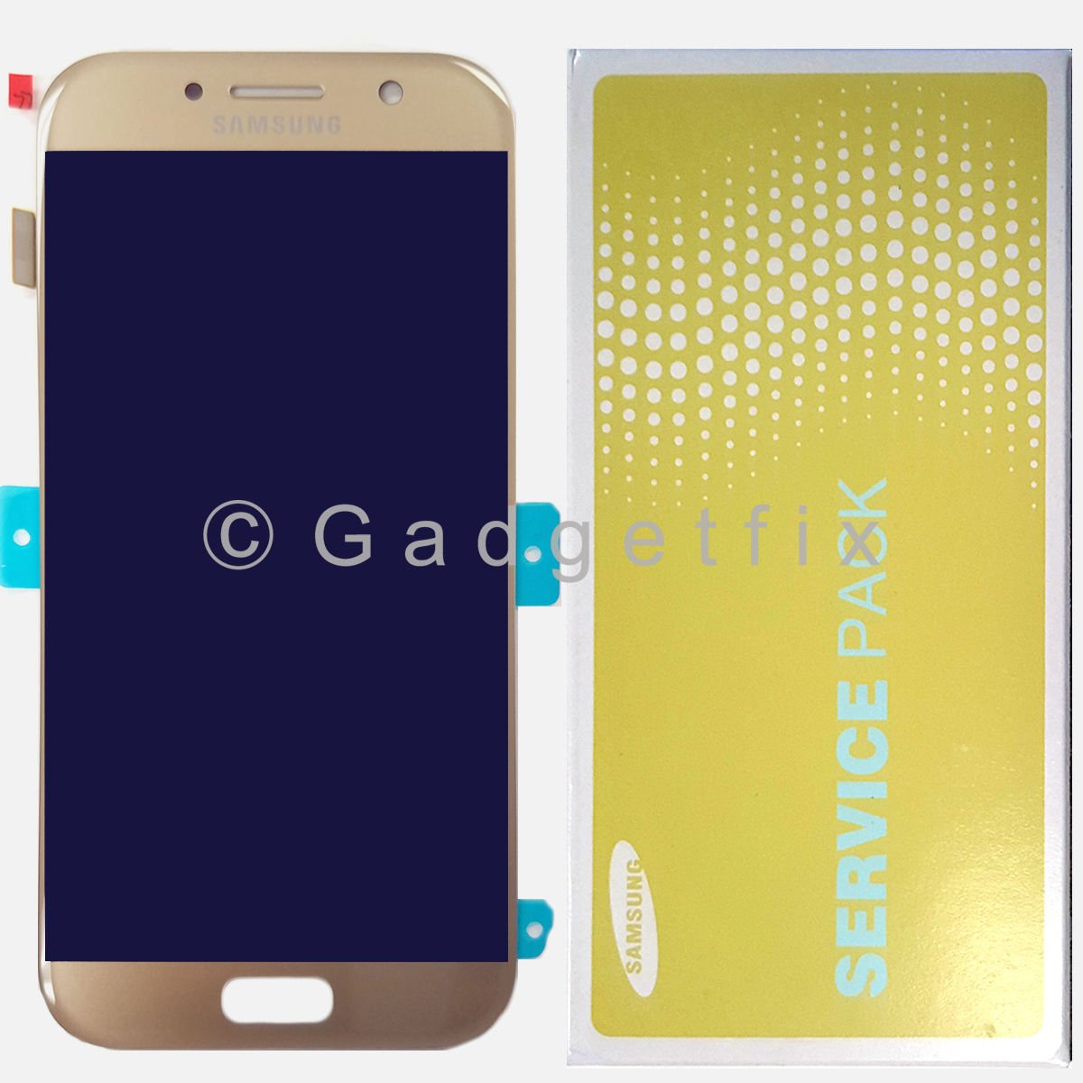 Gold Display LCD Screen Touch Screen Digitizer For Samsung Galaxy A5 2017 A520