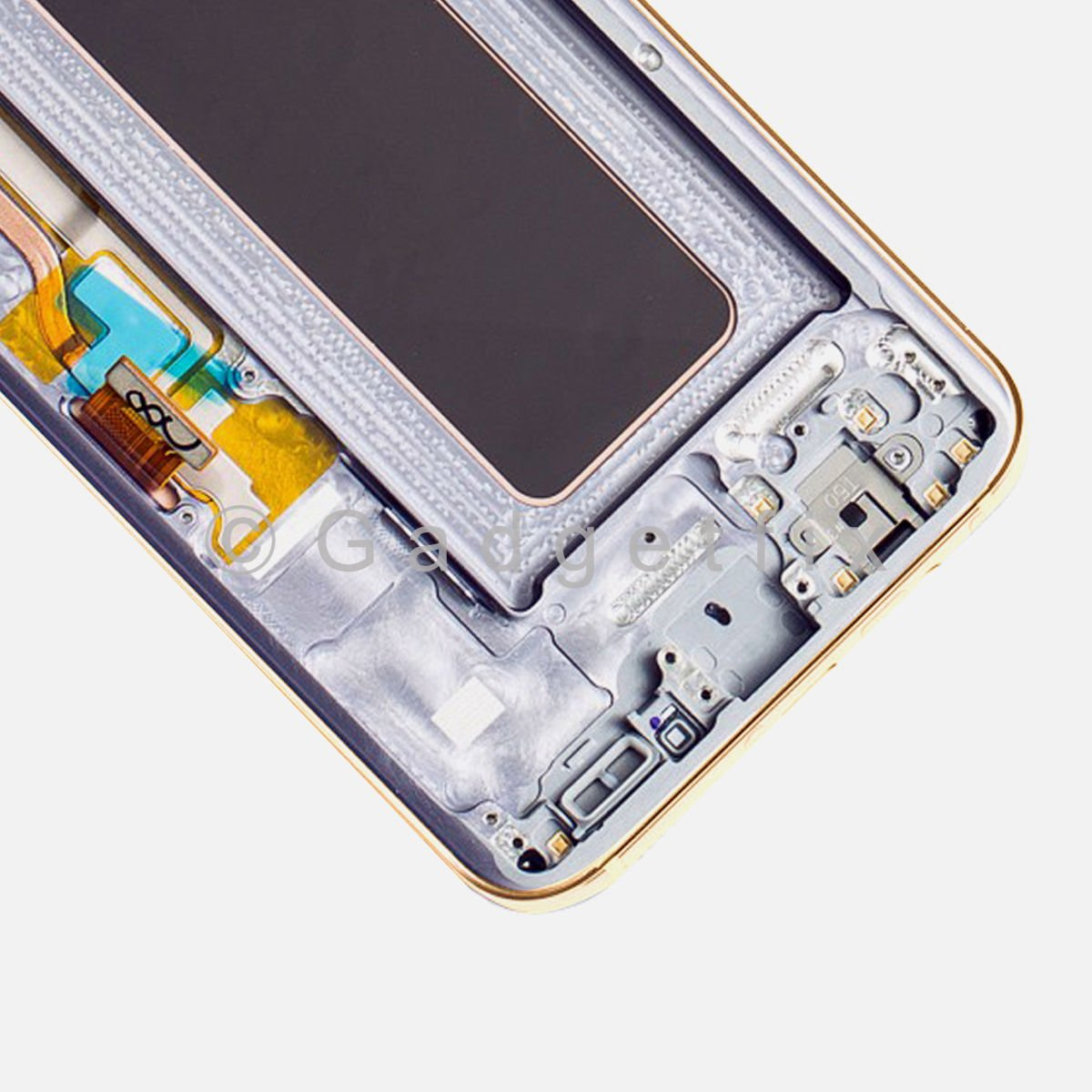 OEM Gold LCD Screen Touch Screen Digitizer + Frame For Samsung Galaxy S8