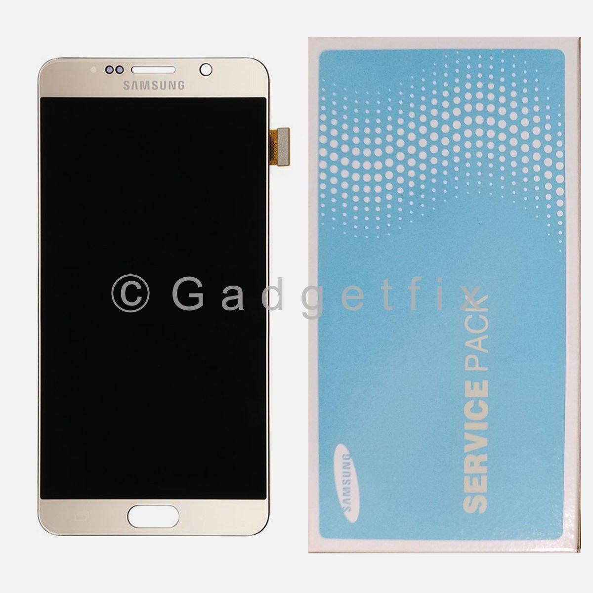 Gold Samsung Galaxy Note 5 N920A N920T N920V N920P LCD Display Touch Screen Digitizer