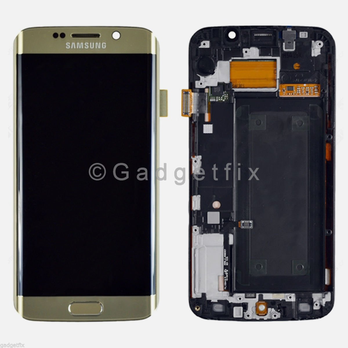 Gold Samsung Galaxy S6 Edge G925A G925T LCD Display Touch Screen Digitizer Frame