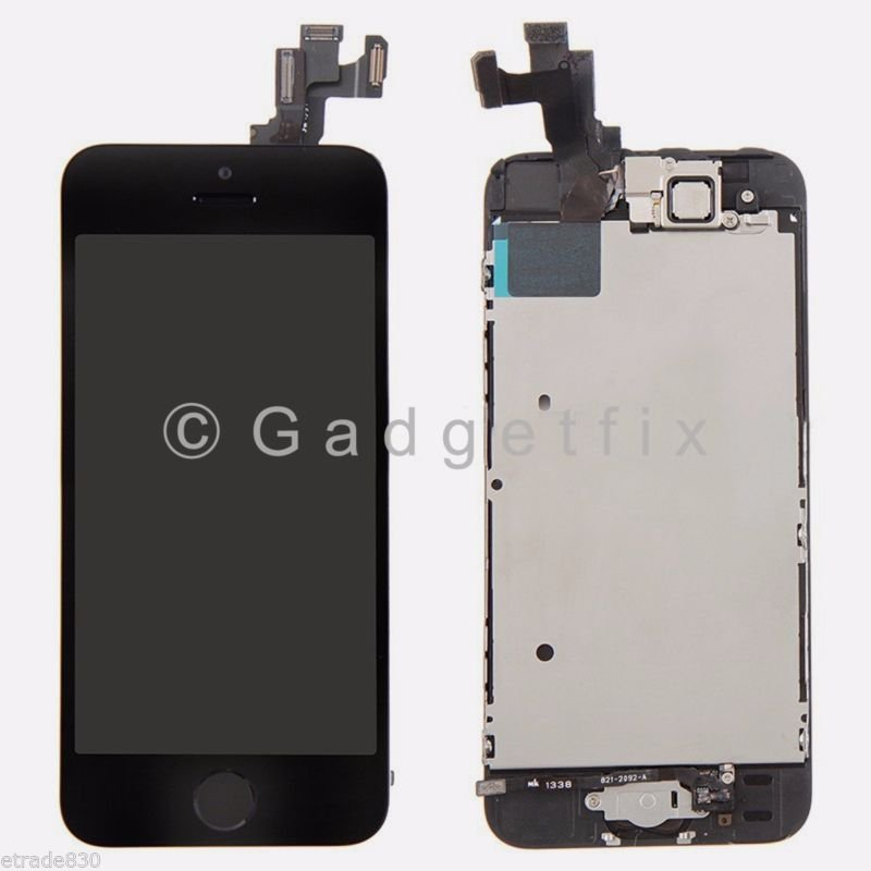 buy popular 5fb4e 94707 Front Housing LCD Touch Digitizer Glass Screen + Home Button Parts ...