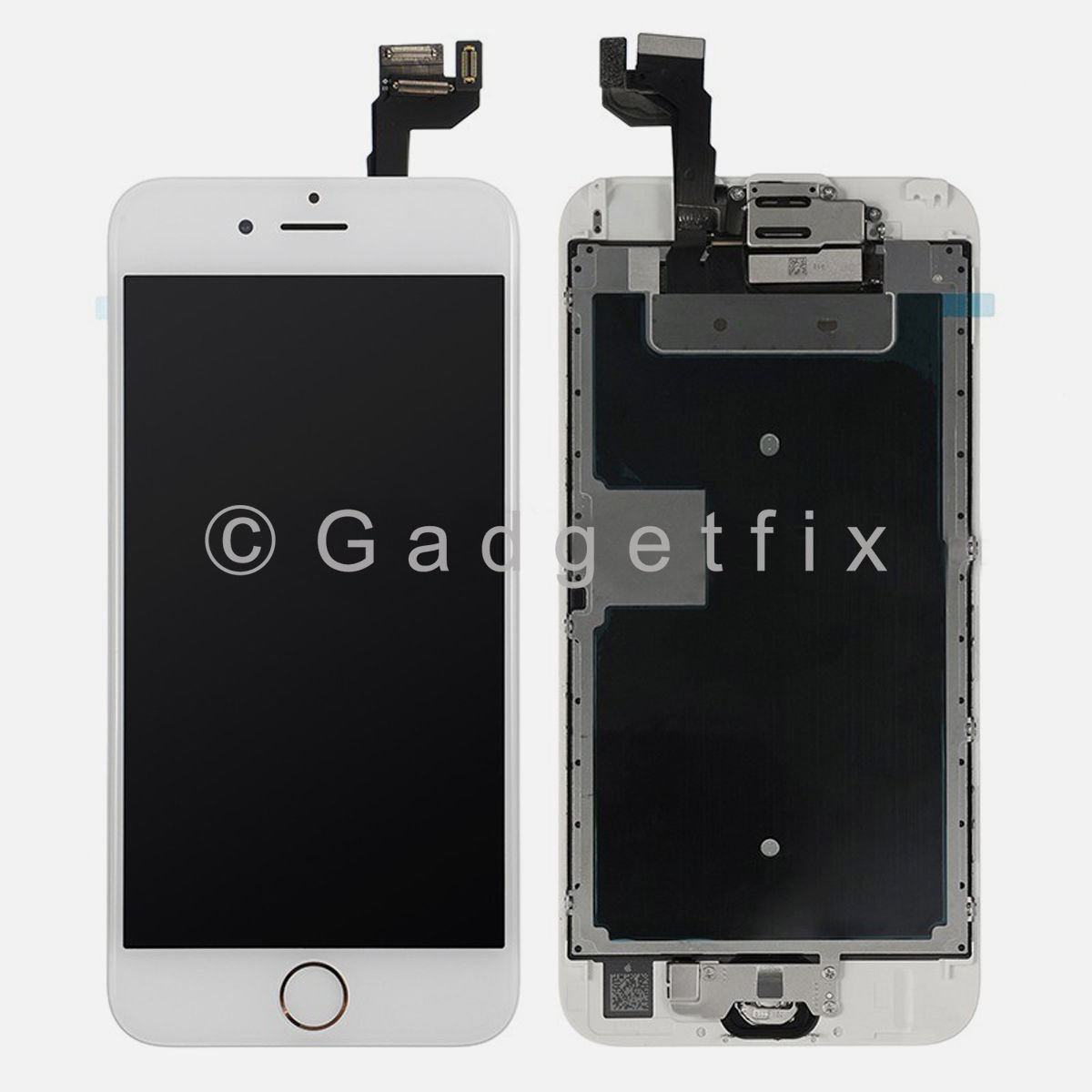 LCD Screen Touch Screen Digitizer + Gold Home Button + Frame for iphone 6S Plus