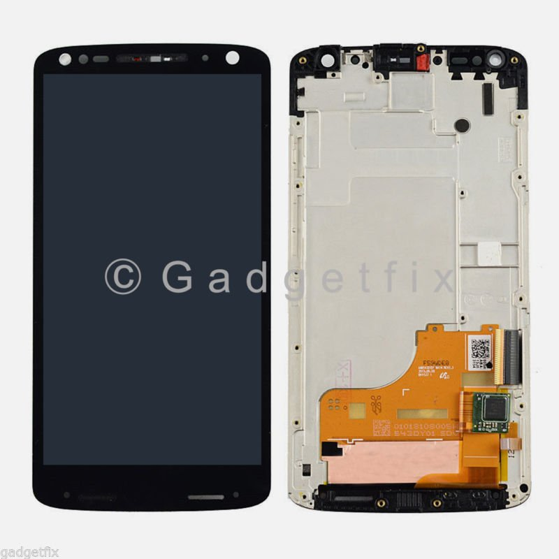 Motorola Droid Turbo 2 XT1580 XT1581 LCD Display Touch Screen Digitizer + Frame
