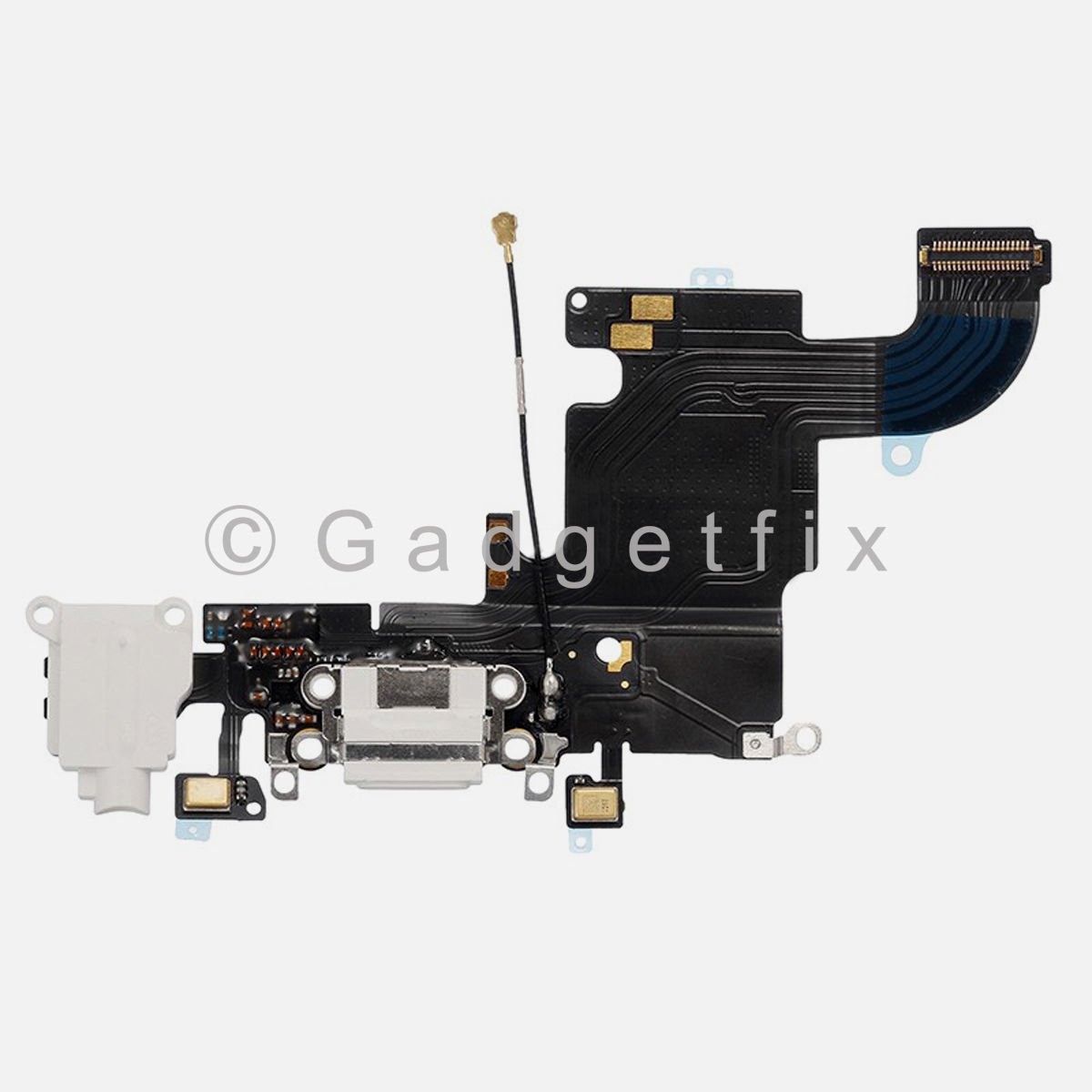 New Charging Charger Port Dock Headphone Jack Mic White Flex Cable for Iphone 6S