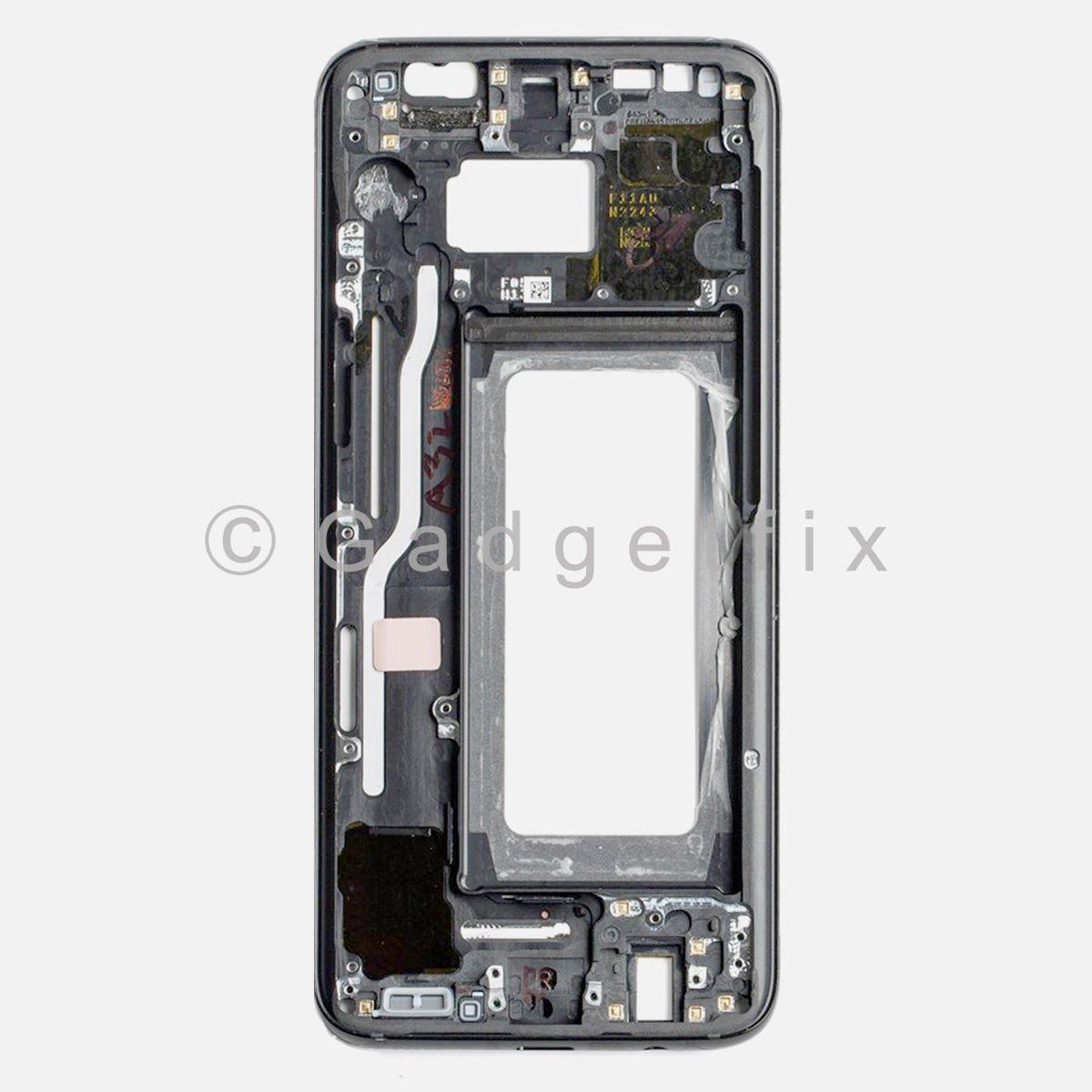 OEM Black Samsung Galaxy S8 LCD Holder Middle Frame Bezel Mid ...