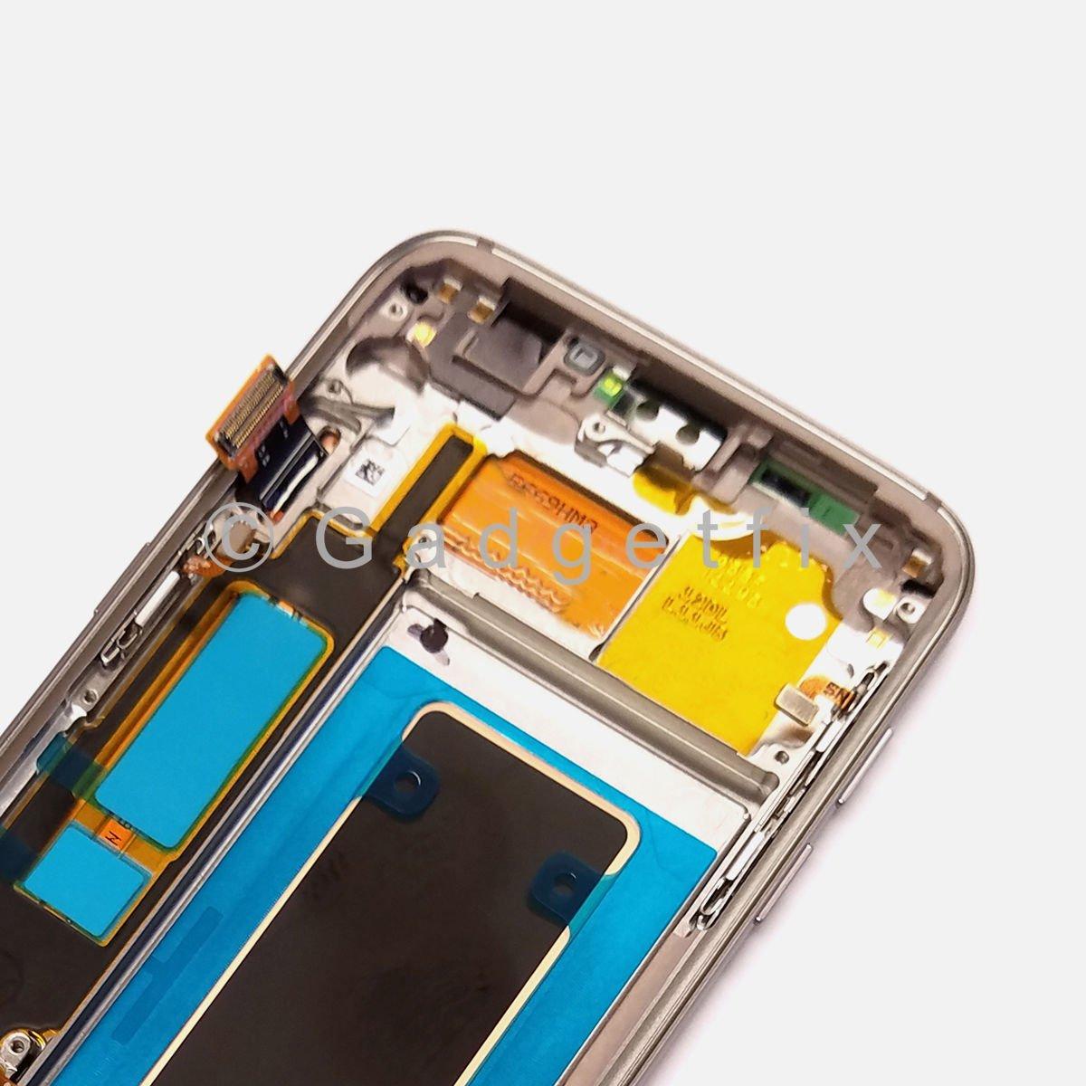 Gold Samsung Galaxy S7 Edge G935v G935p G935a G935t Lcd Display G935 Touch Screen Digitizer Frame 351787803568