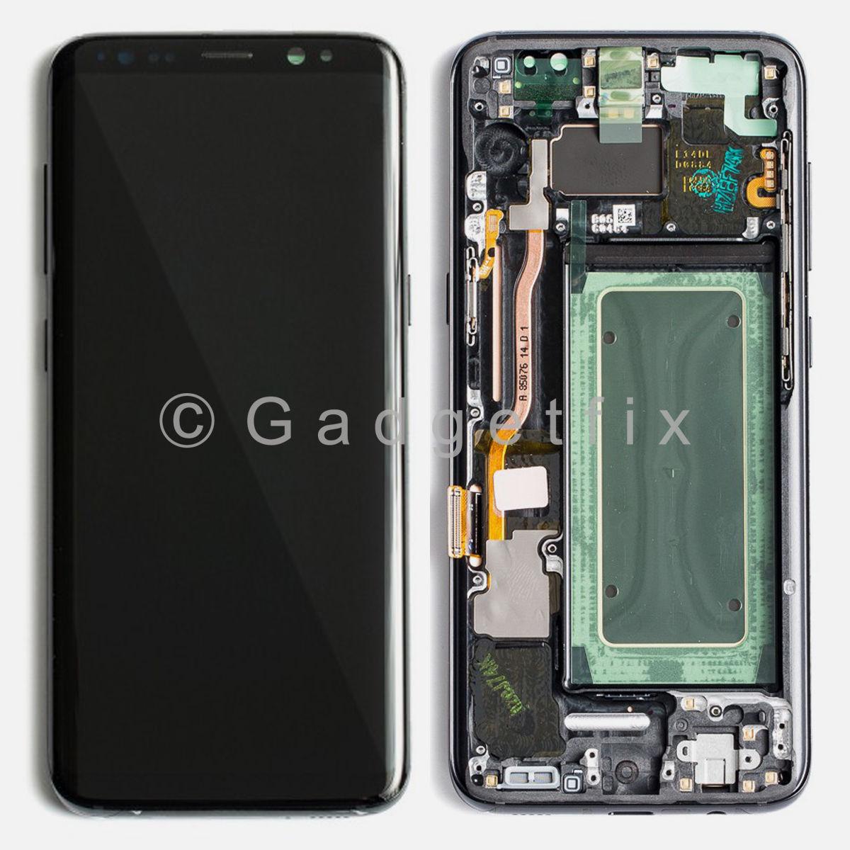 Genuine original samsung galaxy tab 3 8 0 original oem - Midnight Black Lcd Screen Touch Screen Digitizer Frame For Samsung Galaxy S8