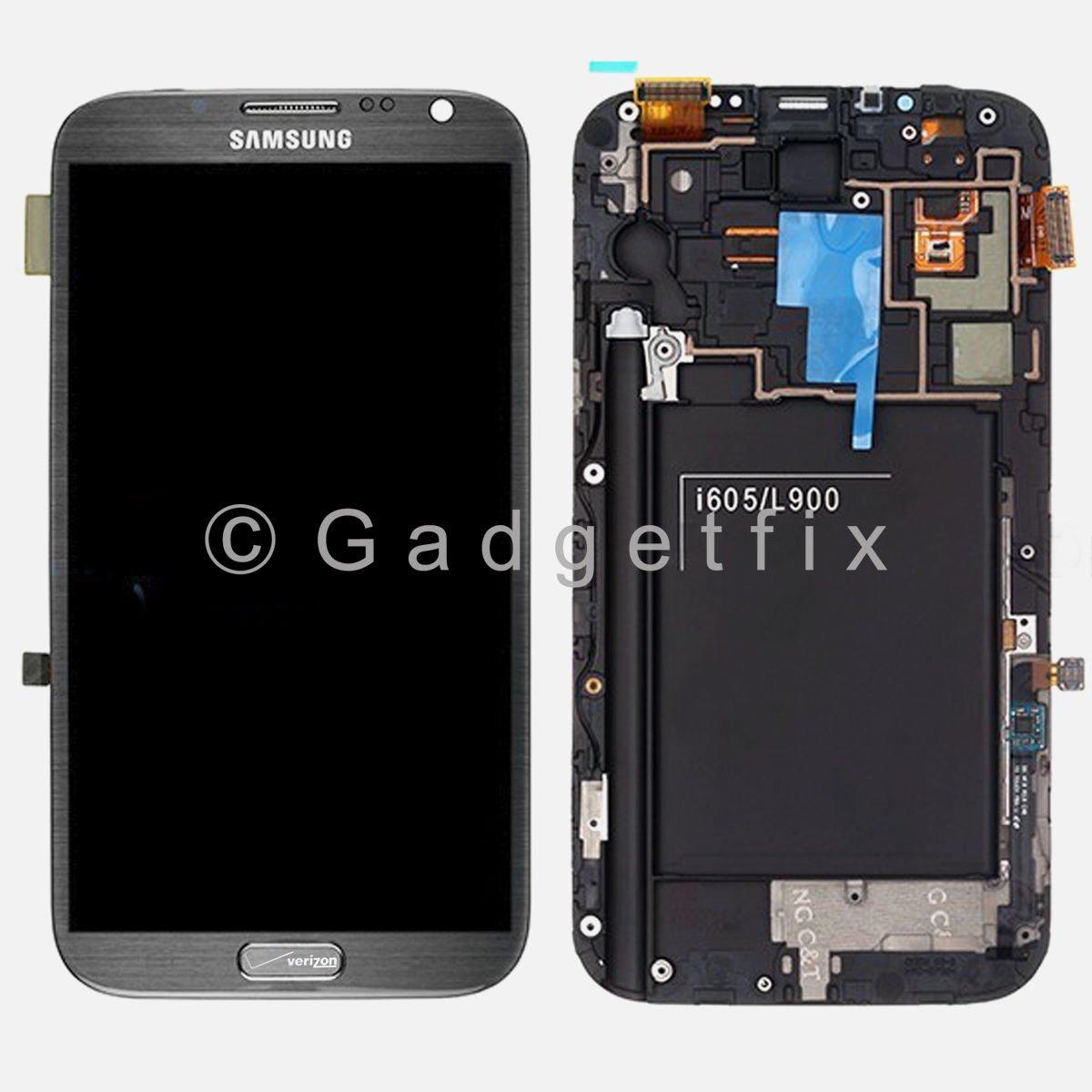 OEM Verizon Samsung Galaxy Note 2 i605 LCD Screen Touch Screen Digitizer Frame