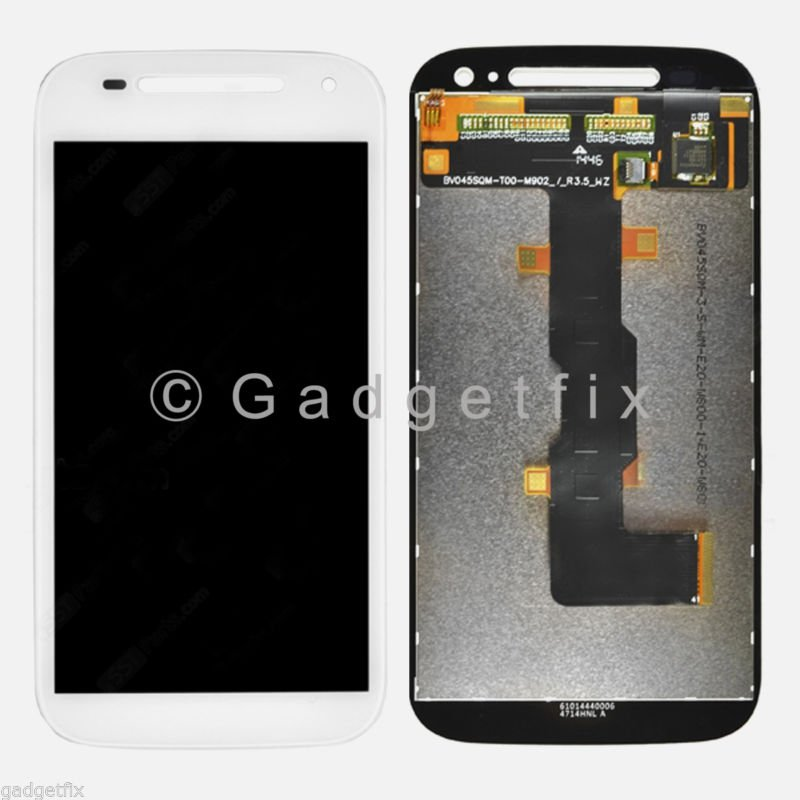 OEM White Motorola Moto E 2015 2nd Gen XT1511 XT1526 LCD Screen Digitizer Touch