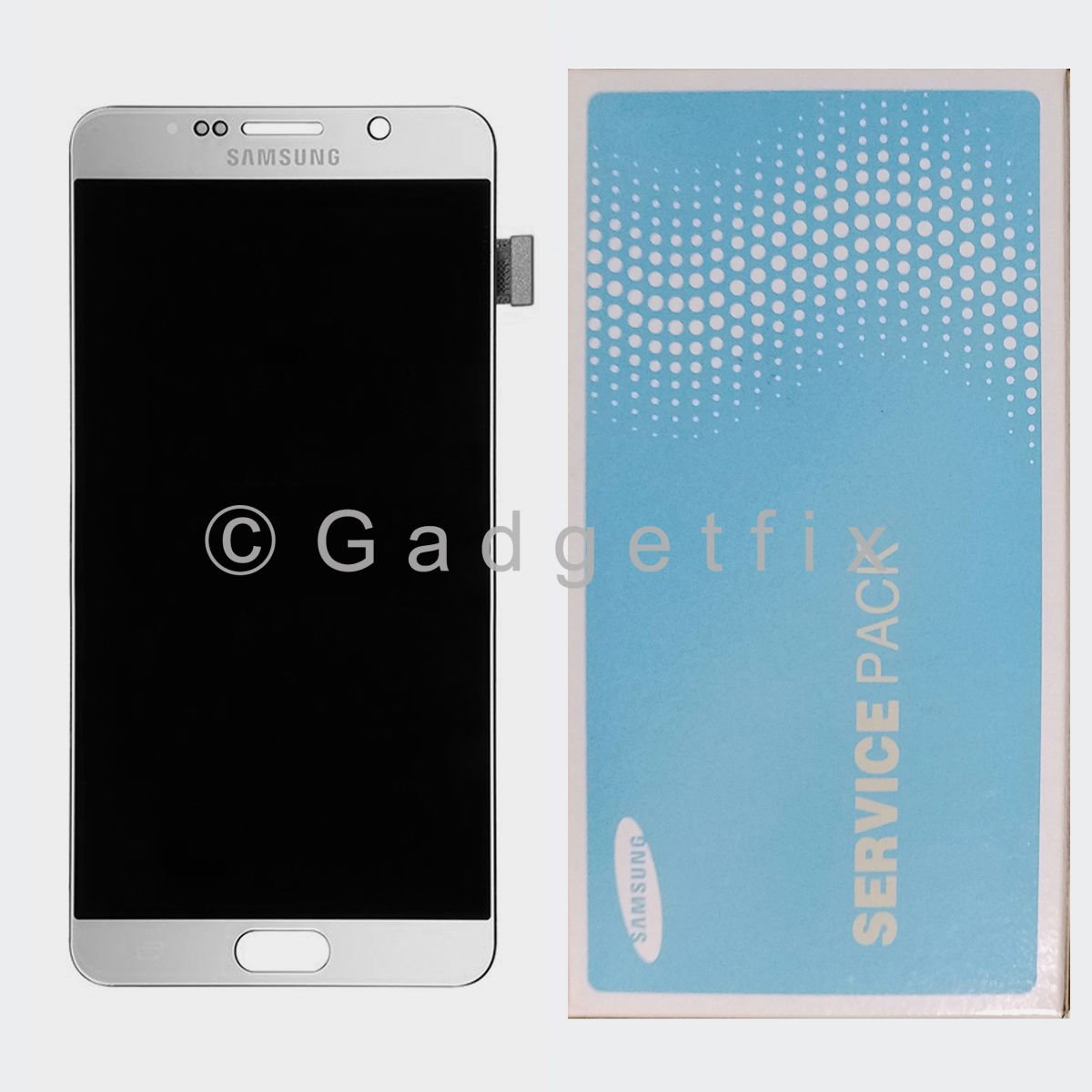 Silver LCD Screen Touch Screen Digitizer For Samsung Galaxy Note 5 N920A N920T