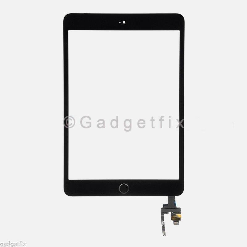 Touch Screen Digitizer + IC Board Home Button Flex for Ipad Mini 3 A1599 A1600