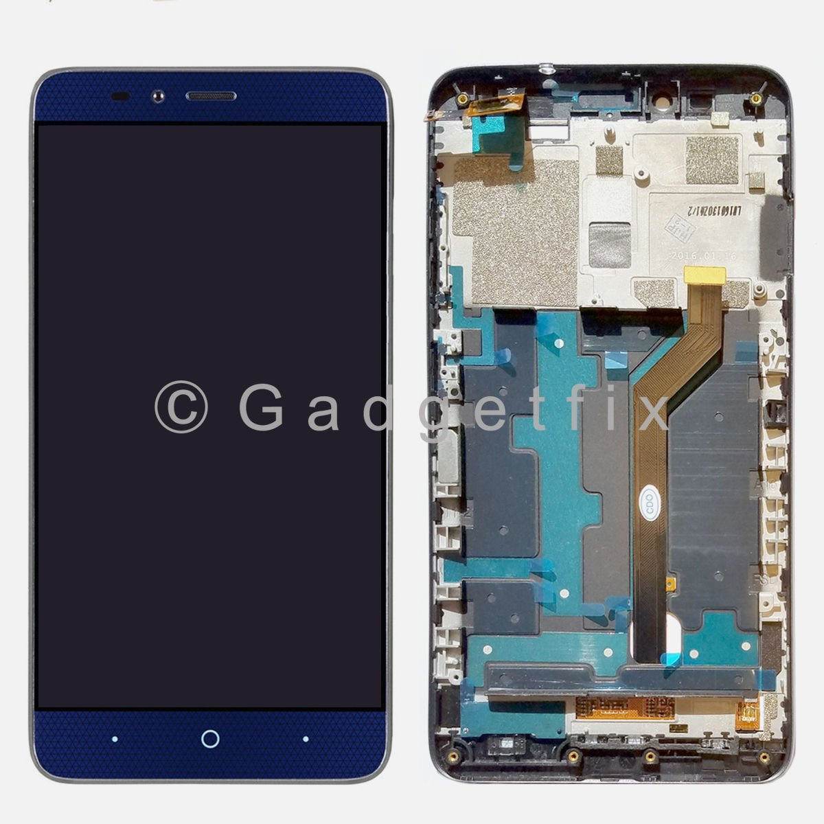Touch Screen Digitizer LCD Display + Frame For ZTE Grand X MAX 2 LTE Z988 6.0''