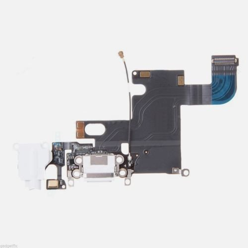Charging Charger Port Dock Headphone Jack Mic White Flex Cable for Iphone 6