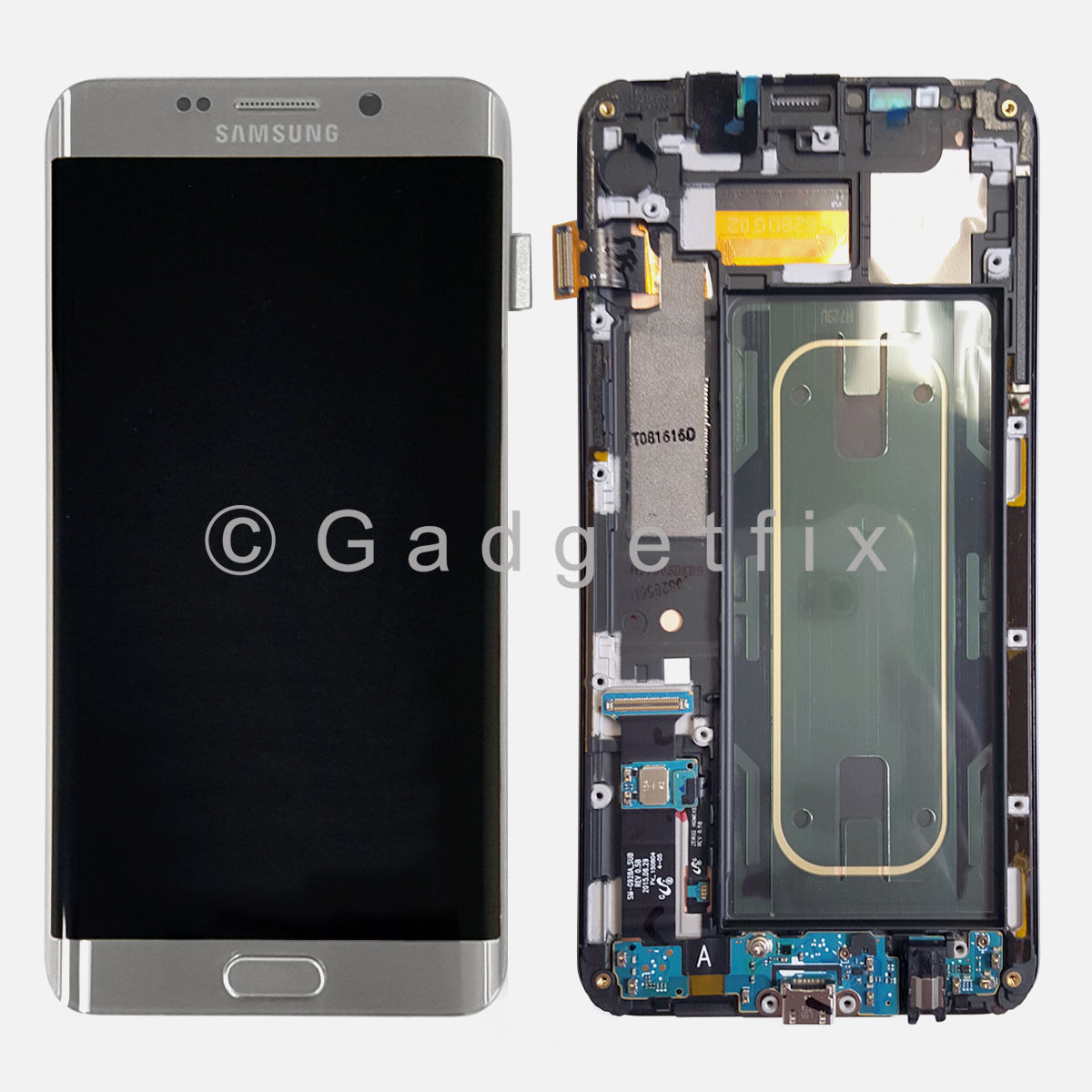 USA Silver Samsung Galaxy S6 Edge+ Plus G928F LCD Touch Screen Digitizer + Frame