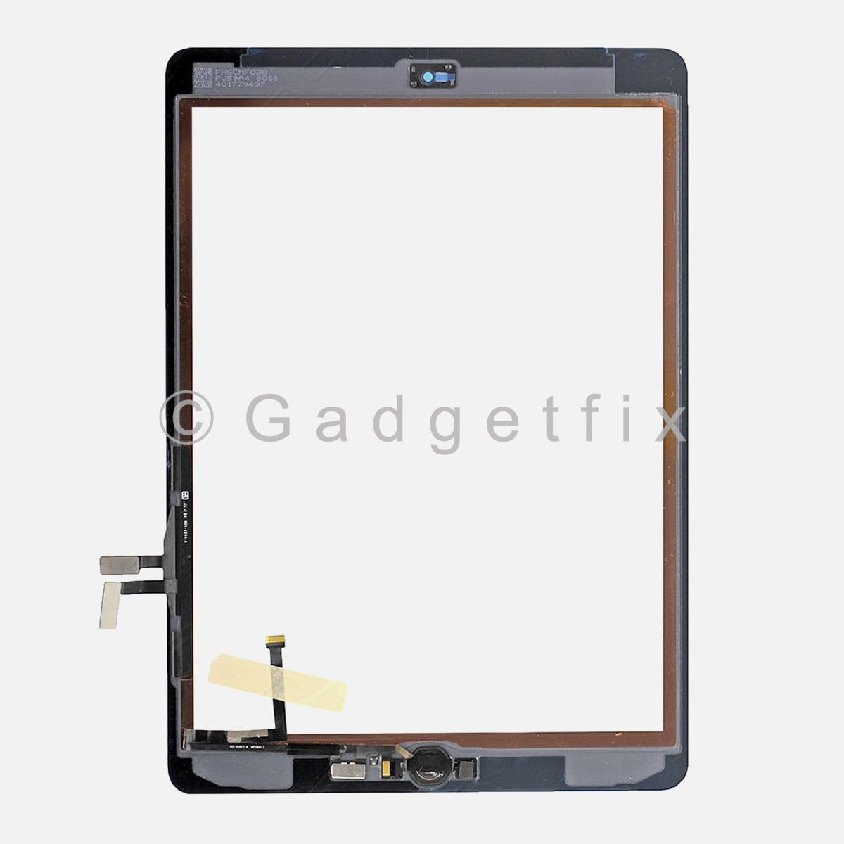 Touch Screen Digitizer + Gold Home Button for iPad 2017 5th Gen A1822 A1823