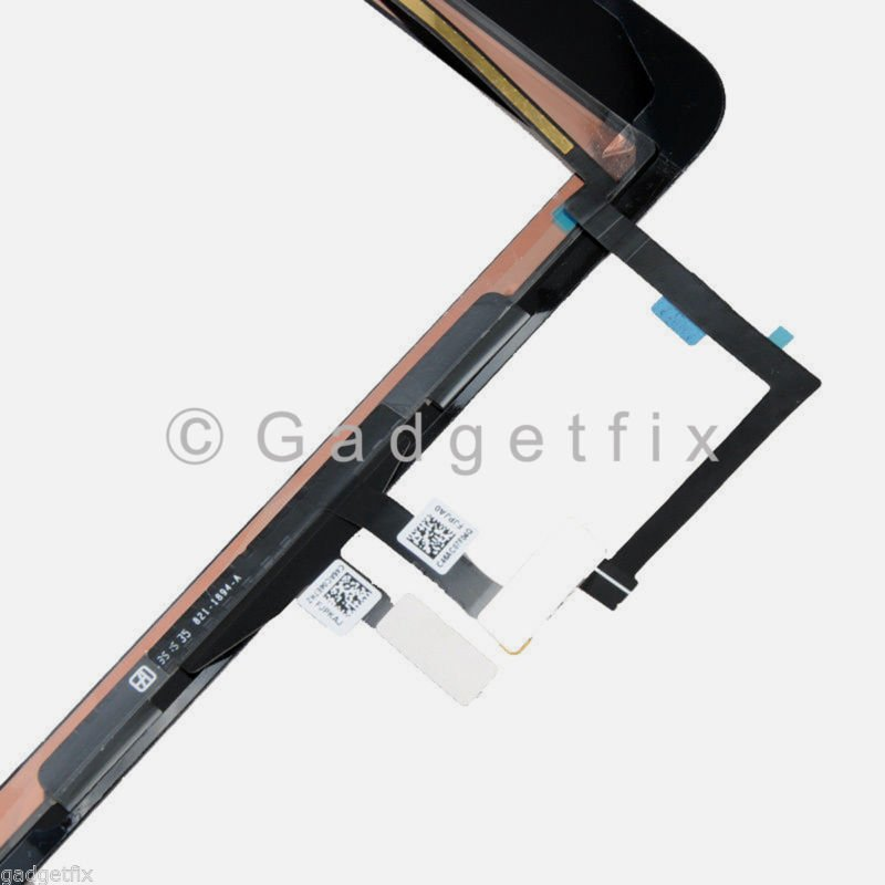 Black Touch Screen Digitizer Glass Home Button Replacement Parts For iPad Air