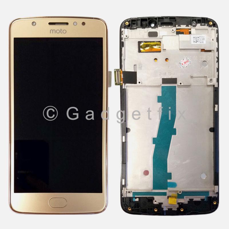 Gold LCD Touch Screen Digitizer + Frame For Motorola Moto E4  XT1767 XT1767PP