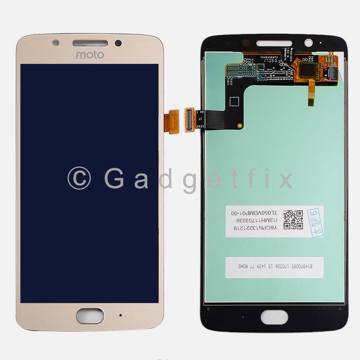 Gold Motorola Moto G5 XT1670 XT1671 XT1677 LCD Display Touch Screen Digitizer