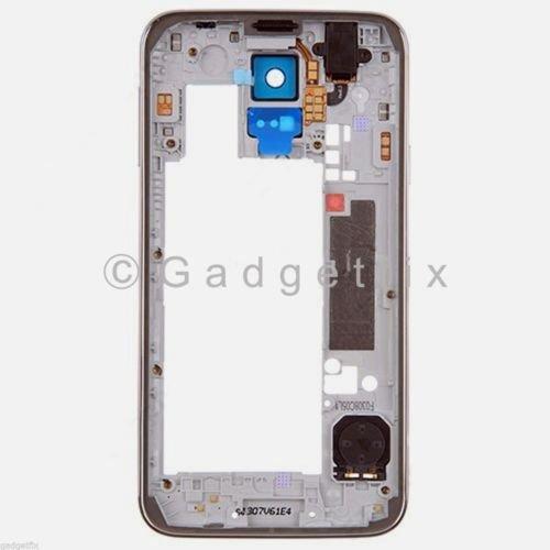 Back Middle Frame Bezel Camera Lens For Samsung Galaxy S5