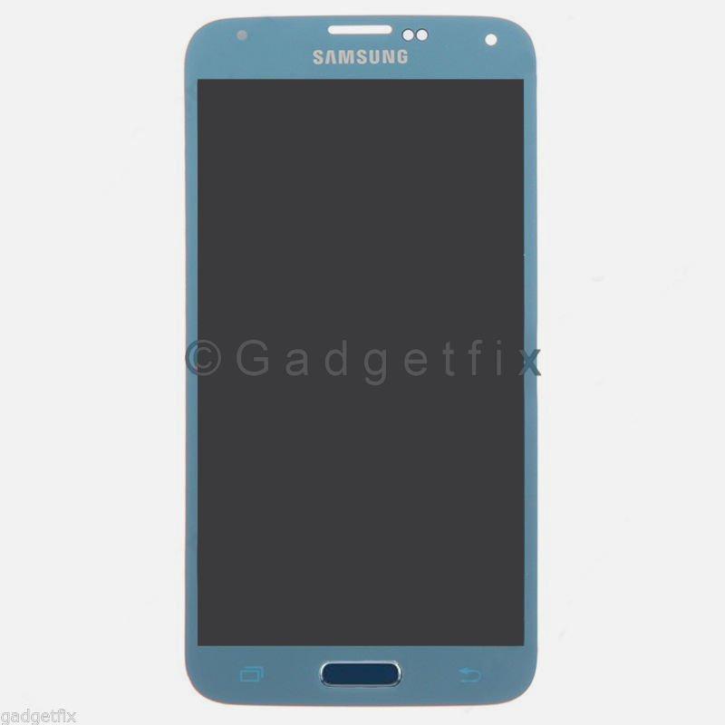 Samsung Galaxy S5 G900A G900T G900V G900P LCD Screen Touch Digitizer Electric Blue A