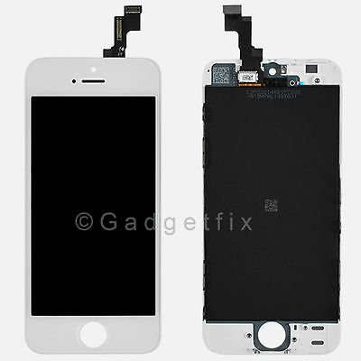 White Front Housing LCD Display Touch Digitizer Screen Assembly for iphone 5S