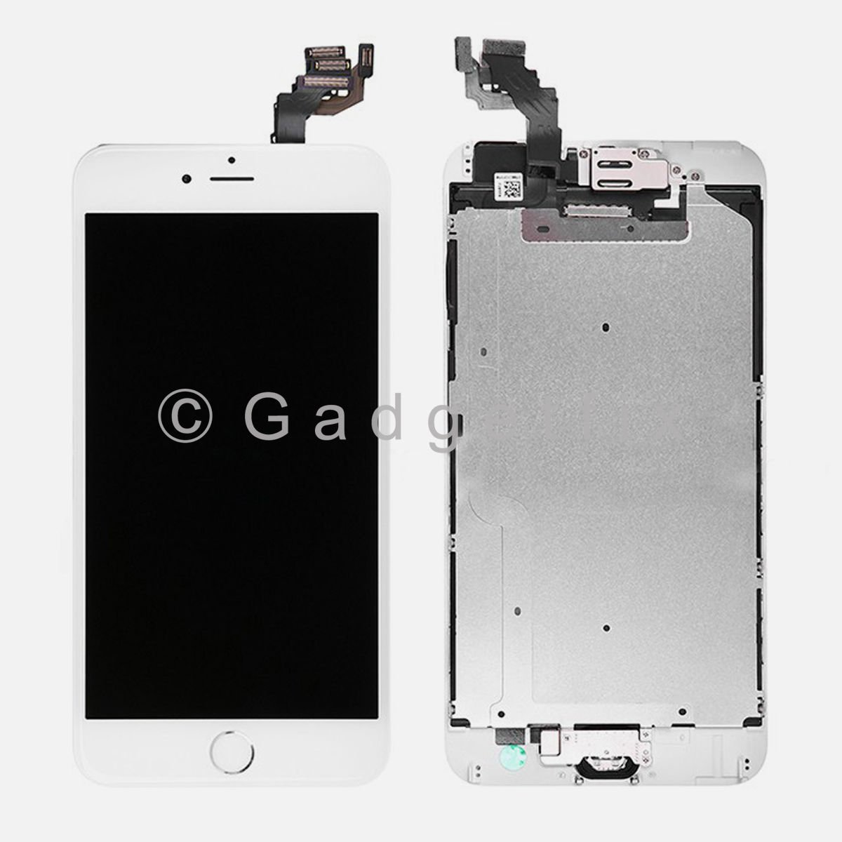 White LCD Screen Touch Screen Digitizer + Camera Frame for iphone 6 Plus 5.5
