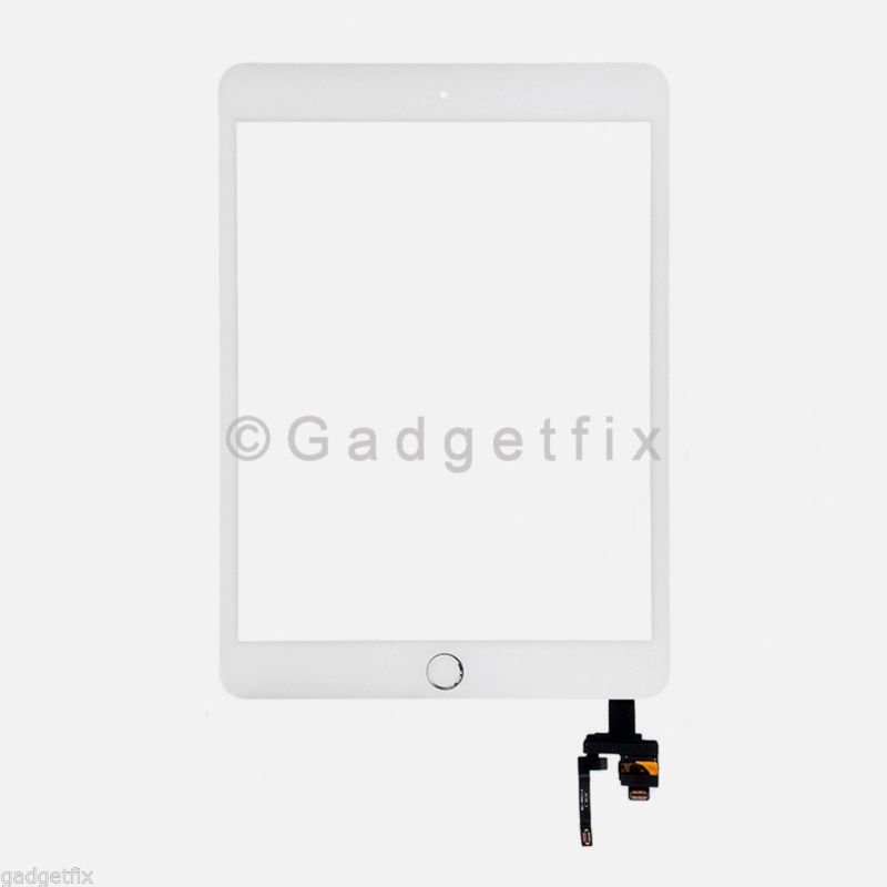 White Touch Screen Digitizer IC Board Home Button for Ipad Mini 3 A1599 A1600
