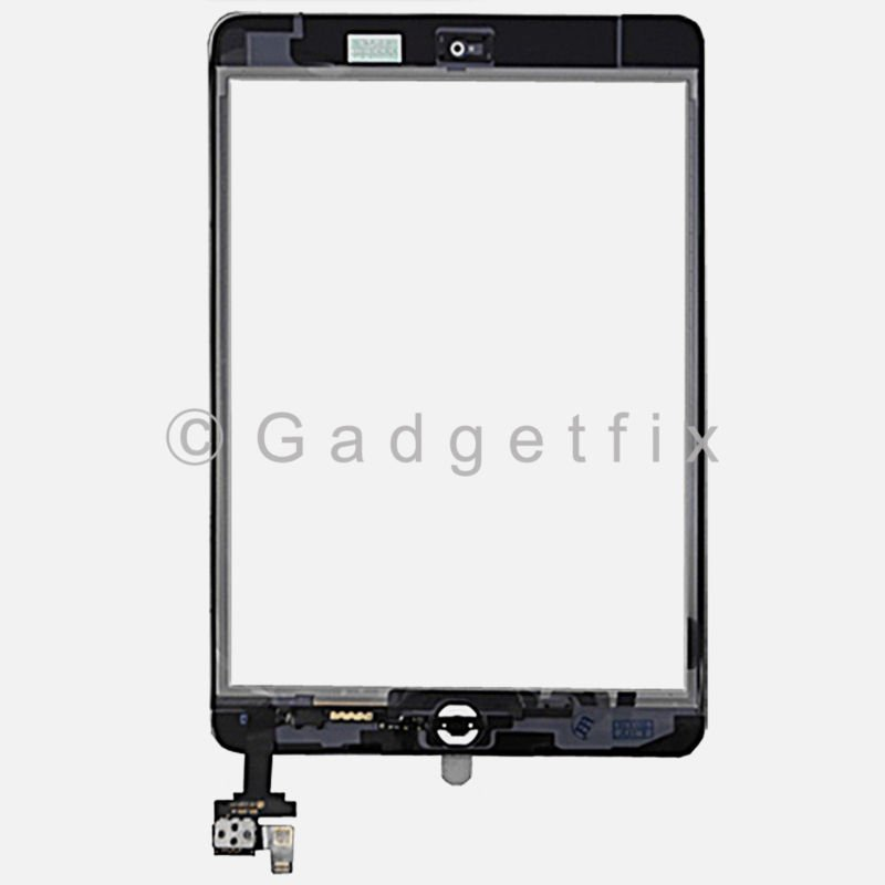 OEM Black Touch Glass Digitizer Screen Home Button W// IC Connector iPad Mini 1 2