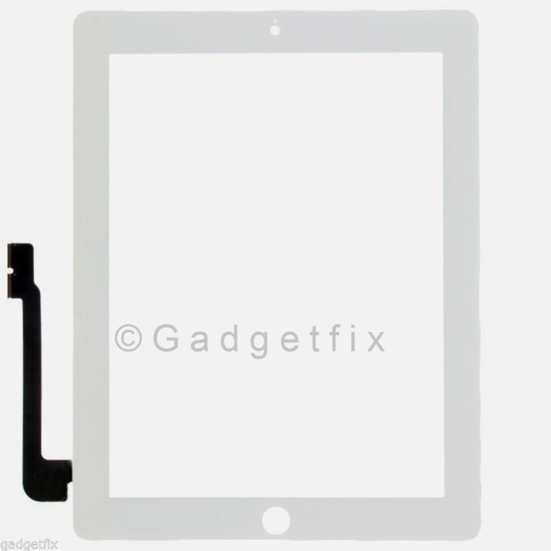 iPad 4 4th Gen Generation Compatible Touch Screen Panel Glass Digitizer White
