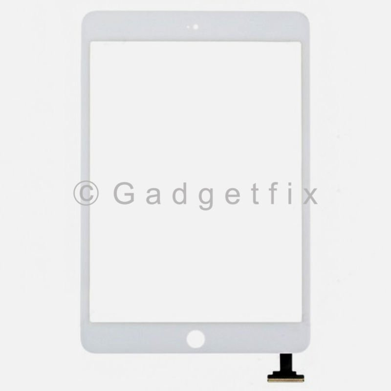 White Ipad Mini Front Panel Touch Screen Glass Lens Digitizer Replacement Parts