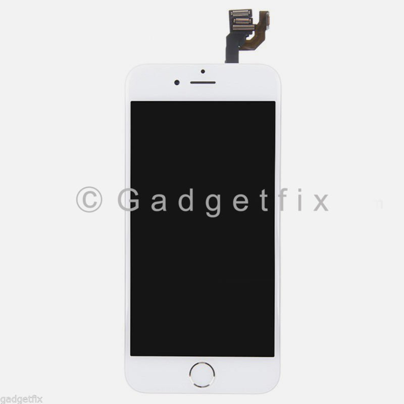 White LCD Screen Display + Touch Screen Digitizer + Button + Camera for iphone 6