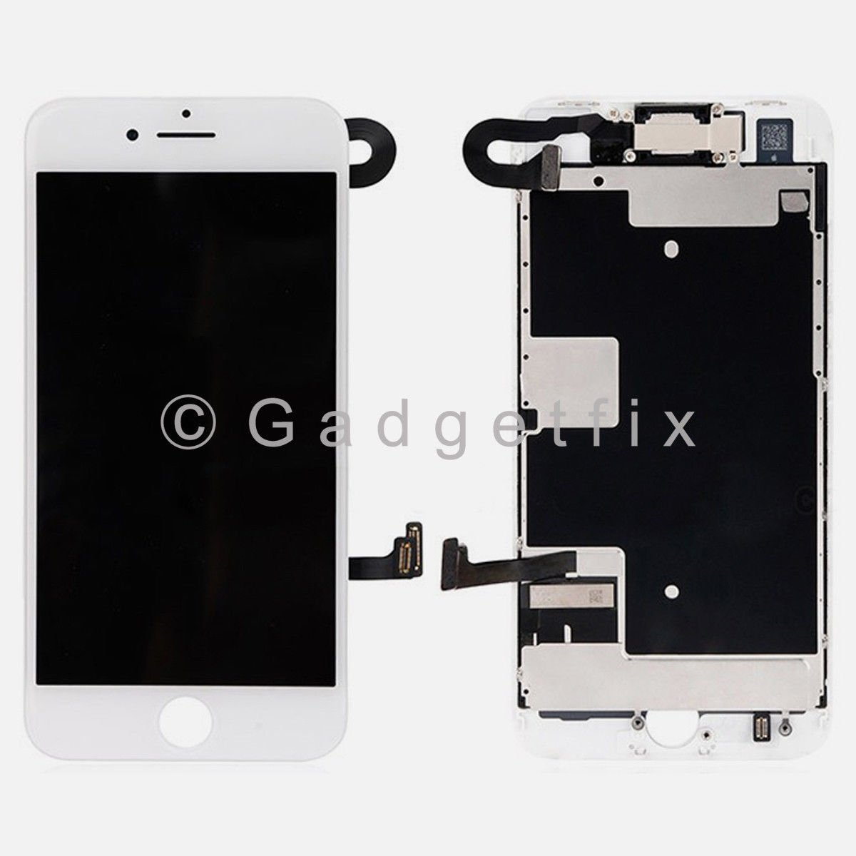 White LCD Screen Touch Screen Digitizer + Camera Sensor Replacement For iPhone 8