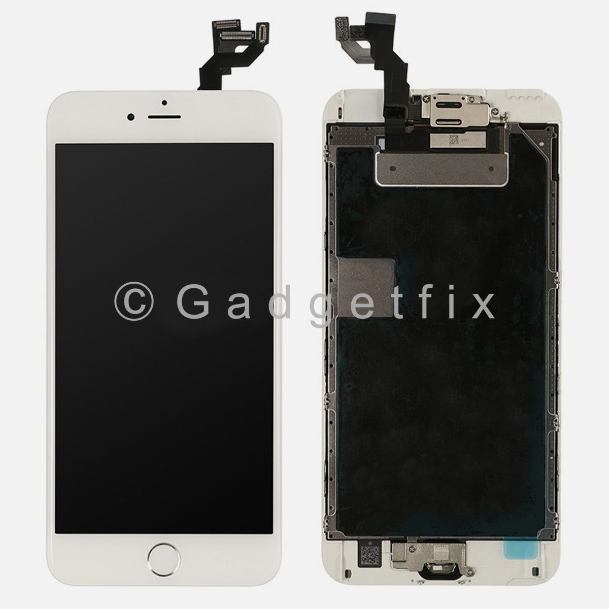 White Lcd Screen Touch Screen Digitizer Home Button Frame For Iphone S Plus