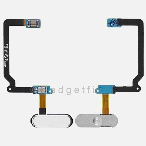 White Home Button with Flex For Samsung Galaxy S5 (All Carriers)