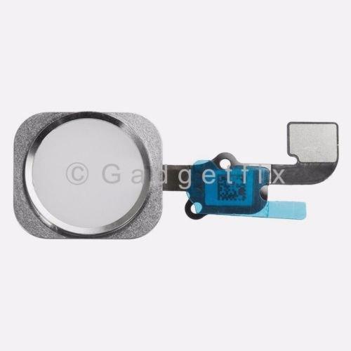 White iPhone 6S Flex Cable + Fingerprint Touch ID Sensor Home Button Connector