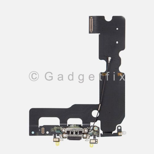 Black Charging Charger Port Flex Cable Mic Antenna Replacement For iPhone 7 Plus