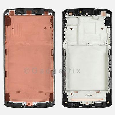 Black LG Google Nexus 5 D820 Faceplate Housing Mid Chasis Matte Frame Adhesive