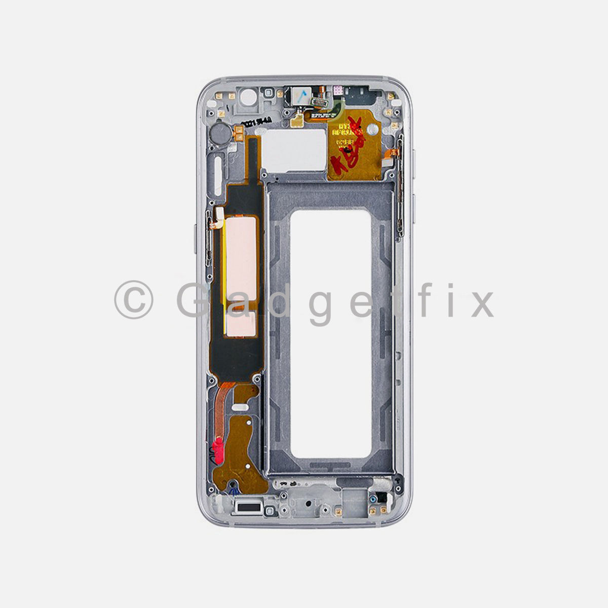 Black Samsung Galaxy S7 Edge LCD Holder Middle Housing Frame Bezel Mid Chassis