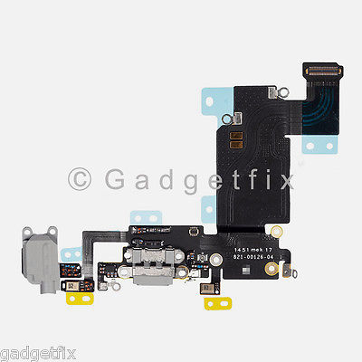 "Charger Charging Port Earpiece Mic Flex Cable For iPhone 6S Plus 5.5"" Dark Gray"