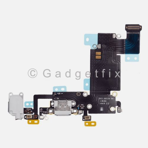 "Charger Charging Port Earpiece Mic Flex Cable For iPhone 6S Plus 5.5"" Light Gray"