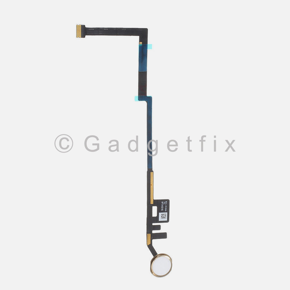 "White | Gold Home Button Key Flex Cable Connector For iPad 5th Gen 9.7"" 2017 A1822 A1823"
