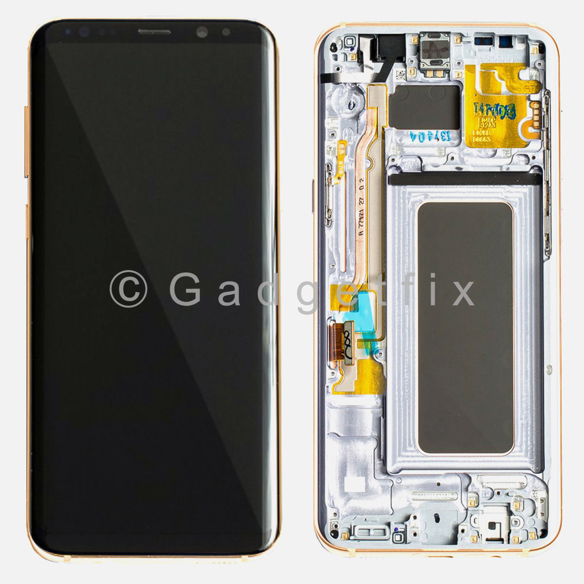 Gold LCD Screen Touch Screen Digitizer + Frame For Samsung Galaxy S8