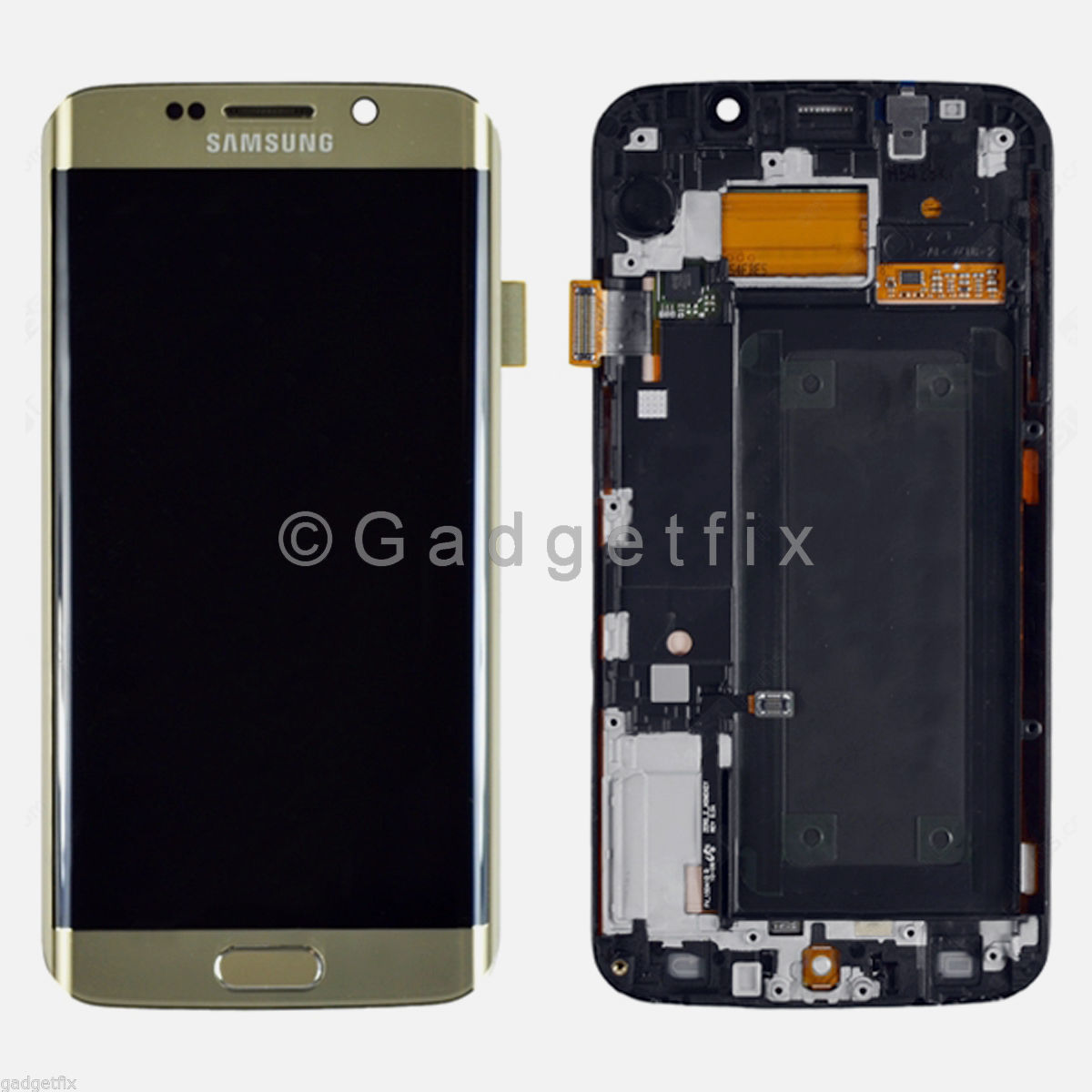 Gold Samsung Galaxy S6 Edge G925A G925T LCD Display Touch Screen Digitizer Frame A
