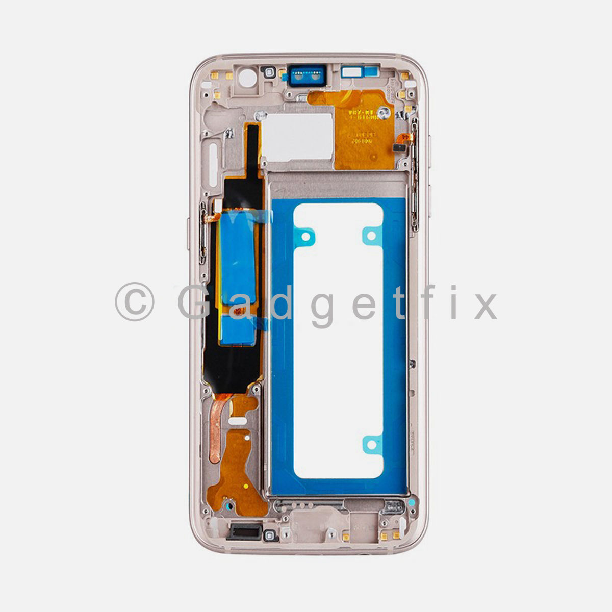 Gold Samsung Galaxy S7 Edge LCD Holder Middle Housing Frame Bezel Mid Chassis